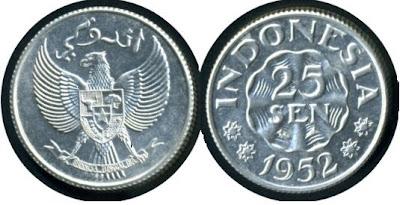 Uang Koin 25 Sen 1952