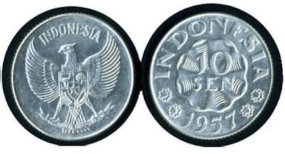 Uang Koin 10 Sen 1957