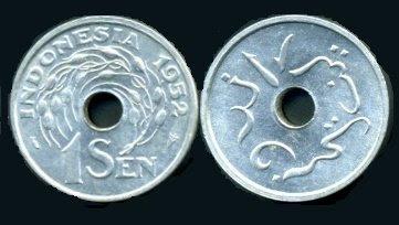 Uang Koin 1 Sen 1952