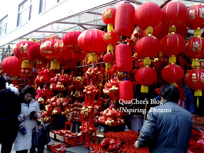 yuyuan garden bazaar, new year decoration