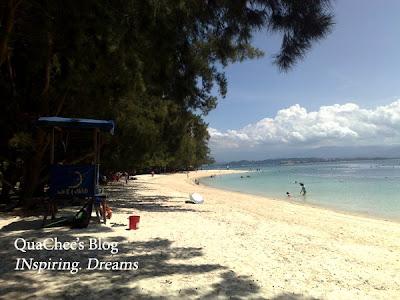 manukan island beach long