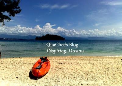 manukan island beach kayak