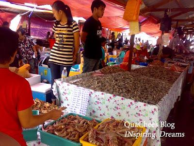 kk market, tiger prawn