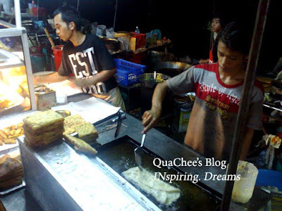 kk waterfront market, fried murtabak