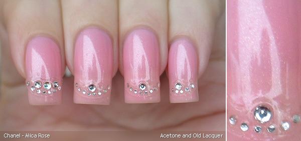beauty nail art chanel mica rose