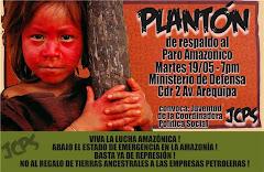 PLANTÓN EN RESPALDO AL PARO AMAZÓNICO