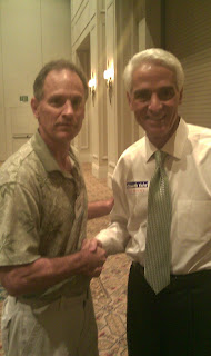 Bill and Gov. Charlie Crist talk about the first time home buyer tax credit