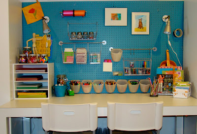 The vintage glitter house kids craft area - Craft area for small spaces property ...