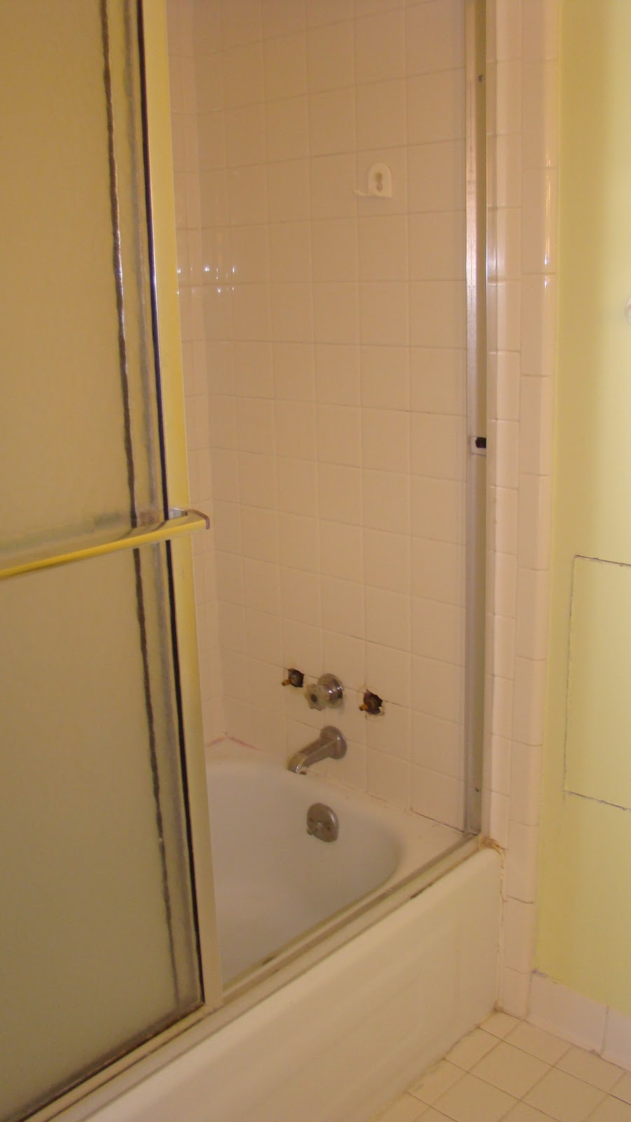 The vintage glitter house girl 39 s bathroom remodel on a budget for Whole bathroom remodel