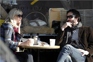 Keanu Reeves blonde date