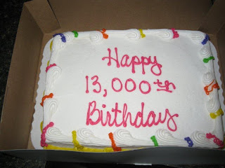 13,000th Day Cake