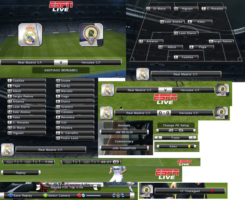 Pes 2011 ESPN Live Scoreboard by CarLosiK89 • PESPatchs