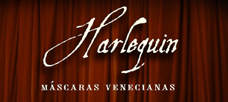 Harlequin Máscaras Venecianas