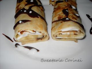 Articole culinare : Clatite cu banane si iaurt