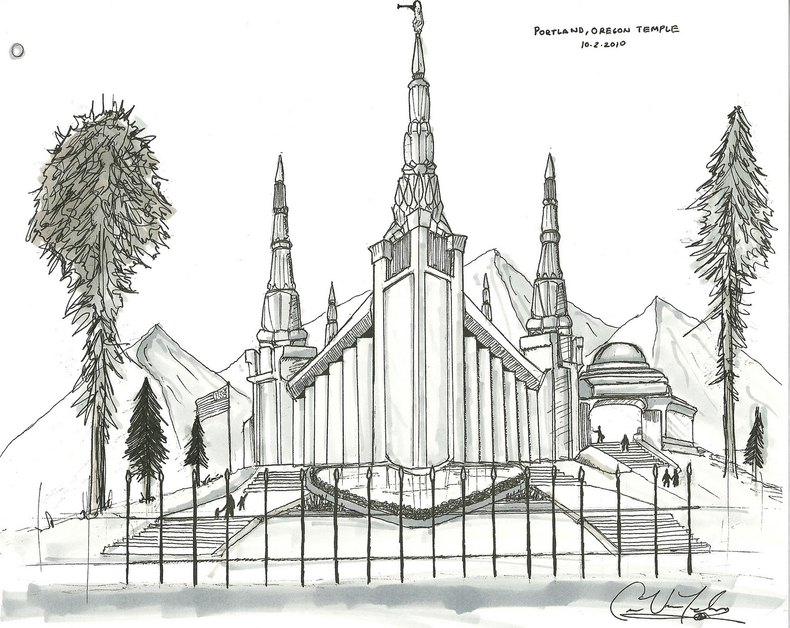 Spokane Lds Temple Coloring Pages Coloring Pages