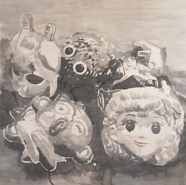 [YOUTH+IN+ASIA-MASKS-SUMI+INK+ON+WOOD+PANEL+91.5+X91.5+CM+by+RIKKI+KASSO+3.jpg]