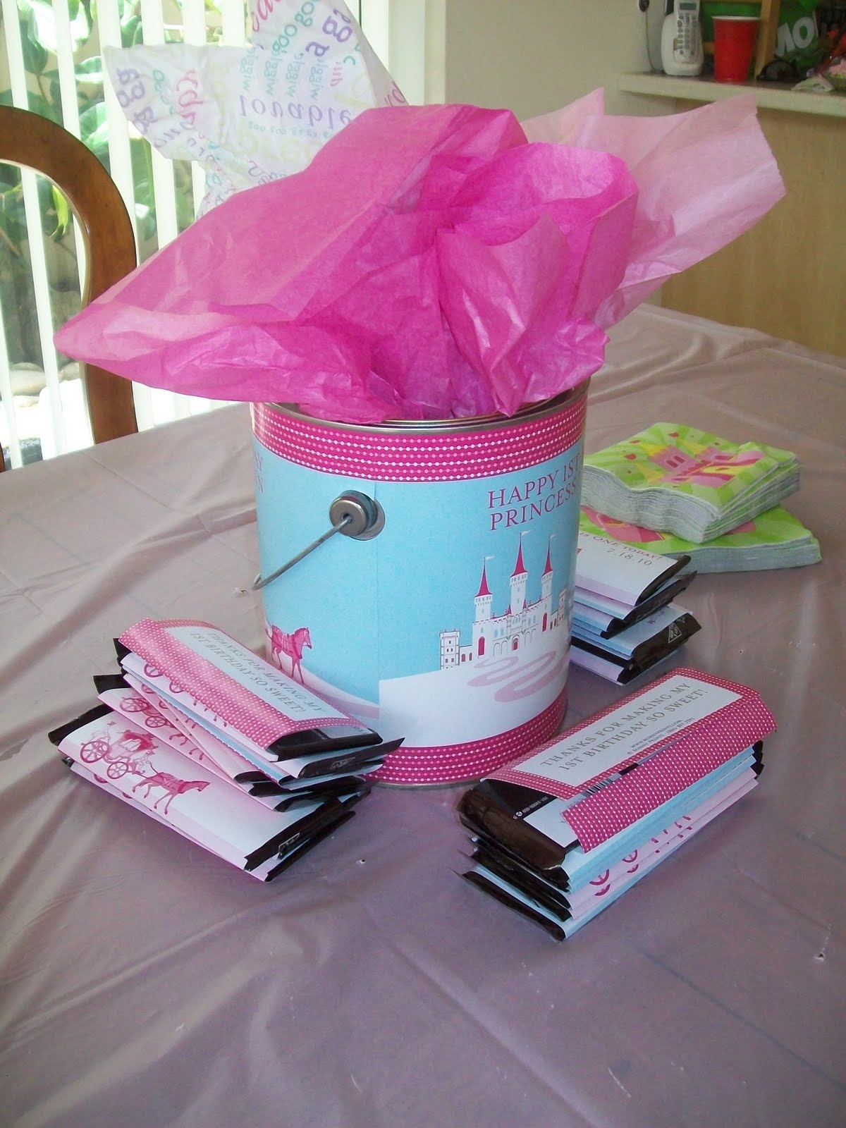 MIRACLES HAPPEN- Bunny Prints Personalized Birthday Decorations and ...