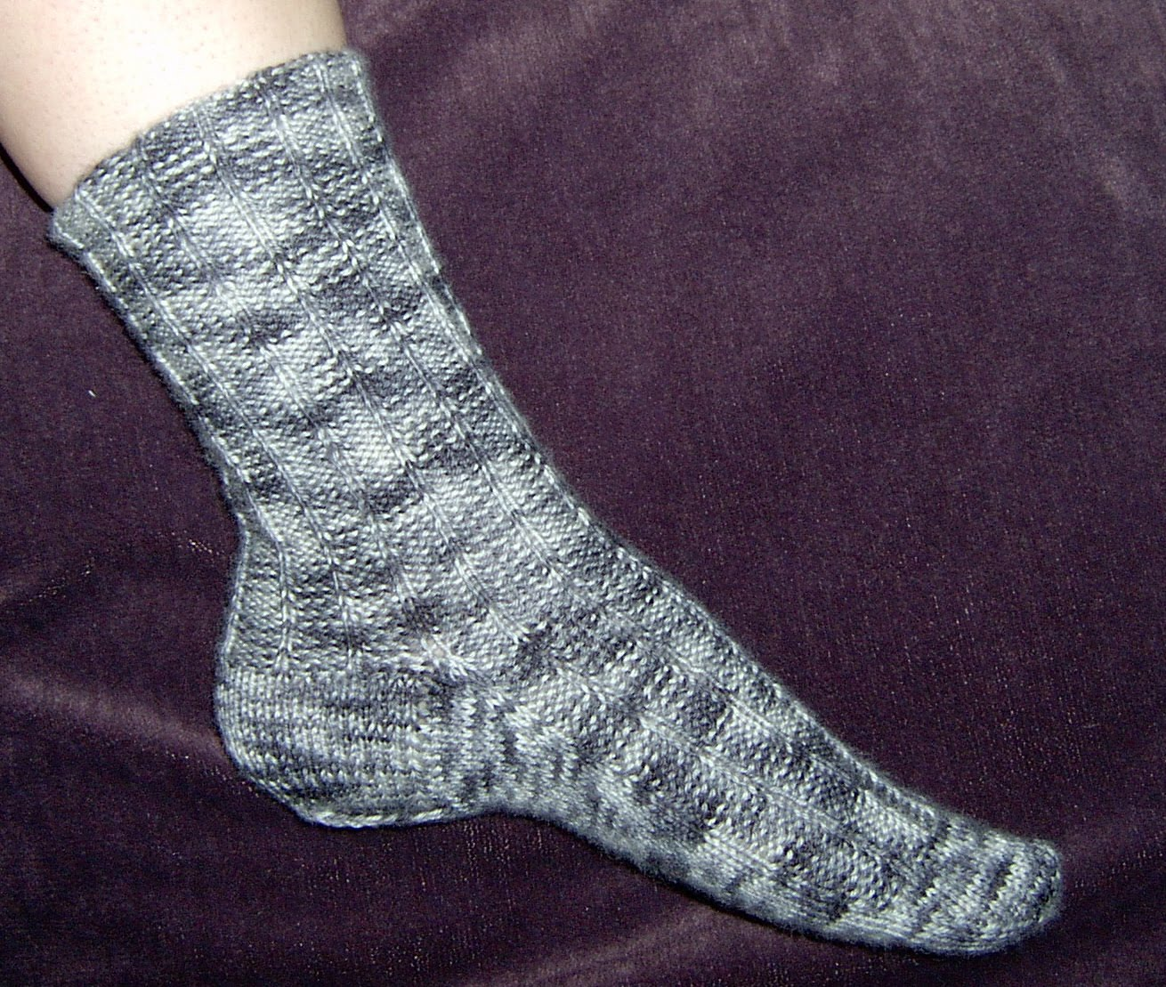 Kate Atherley Knits. A Lot. Mainly Socks.: Reverse Basic Ribbed Sock