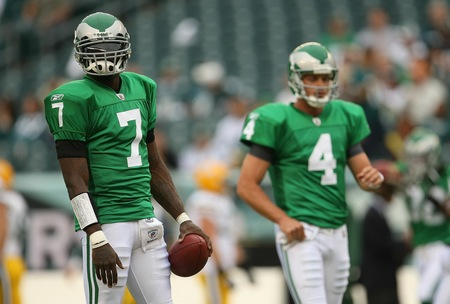 Kevin Kolb and Michael Vick