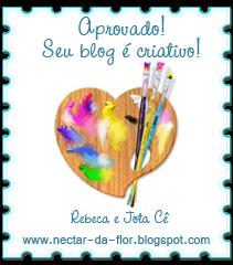 Selo oferecido pelo blog Néctar da Flor