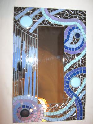 espejos con vidriecitos pintados