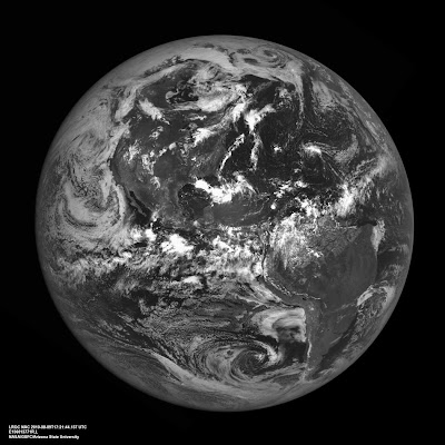 Earth from the Moon taken by LRO on August 9, 2010