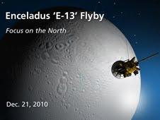 Artist concept of Enceladus flyby