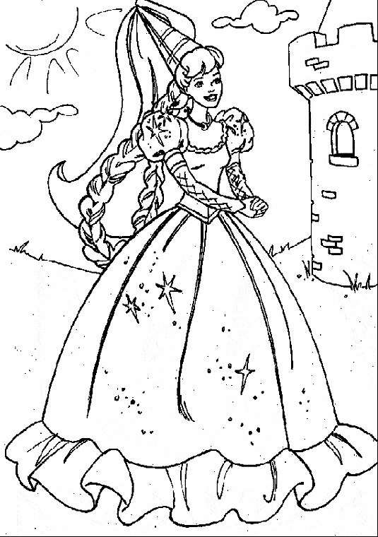PRINCESAS PARA COLOREAR | PRINCESSES COLORING title=