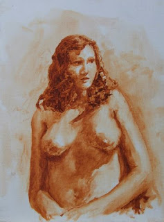 Oil wash sketch - oil painting by Stephen Scott