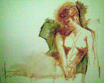 seated nude - oil on canvas - stephen scott