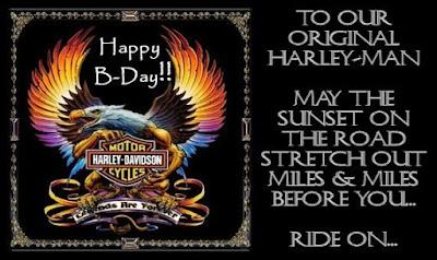 Our Harley Days Happy Birthday DAD – Harley Davidson Birthday Cards