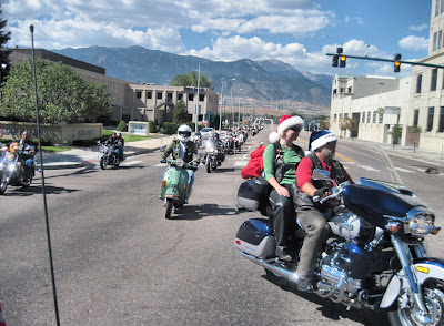 Arriving downtown Colorado Springs