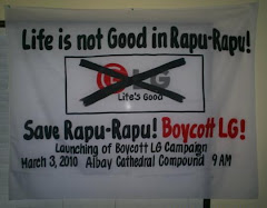 Boycott LG products and strike a blow for environmental protection and economic justice