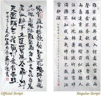 escritura de la china: