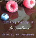 Festeggiamo insieme il 1 BlogCompleanno di Acquolina!!!
