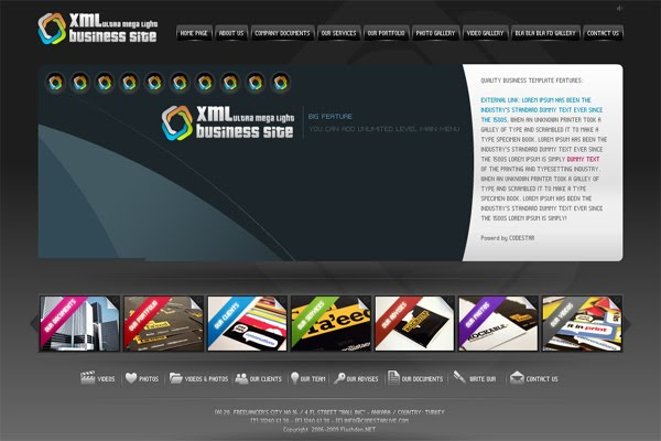 XML Business Flash Web Site Template - Blogger Templates