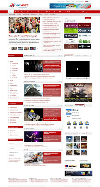 JV News II - Magazine Joomla Template