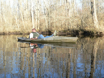 Winter Kayaking on Dividing Creek
