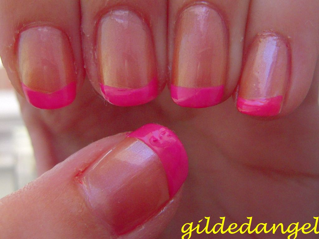 notd: extreme pink french