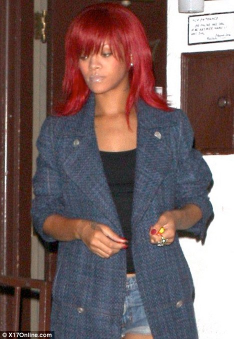 Bright Red Hair Rihanna. rihanna red hair. rihanna red