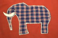 appliqued elephant