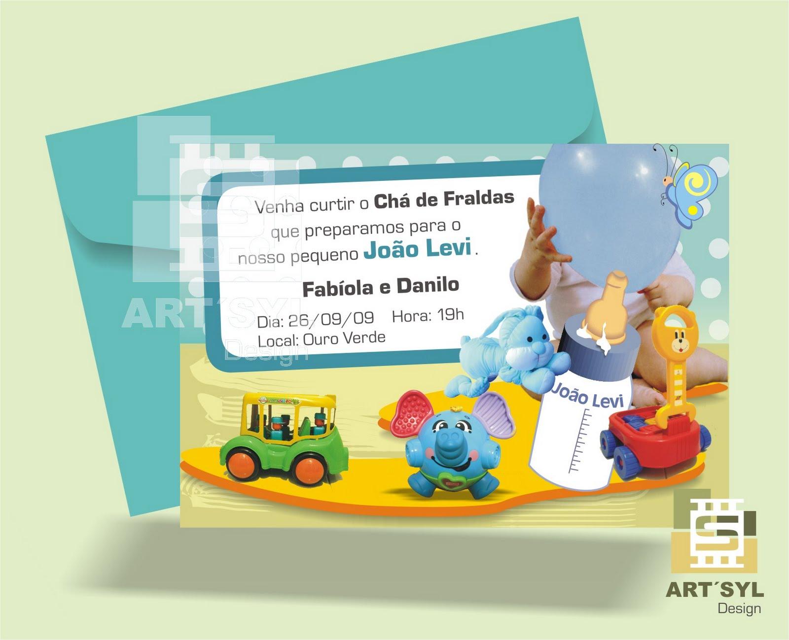 Convite Baby Chá de Fraldas