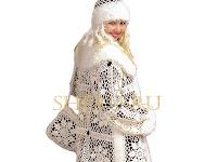 güzel örgü palto değişik bir model