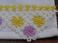 Halkalı havlu danteli