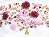 Kurdele Nakışlı Havlu: Gül Ağacı