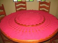 yuvarlak masa örtüsü