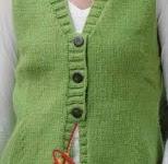 Örgü Kısa Kollu Yeşil Renkte Bluz Modeli Yapılışı