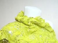 Sarı Crochet Şal