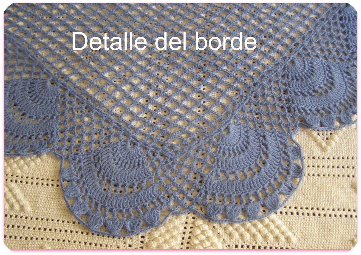 A punto de red: Otro chal a crochet, fácil y rápido