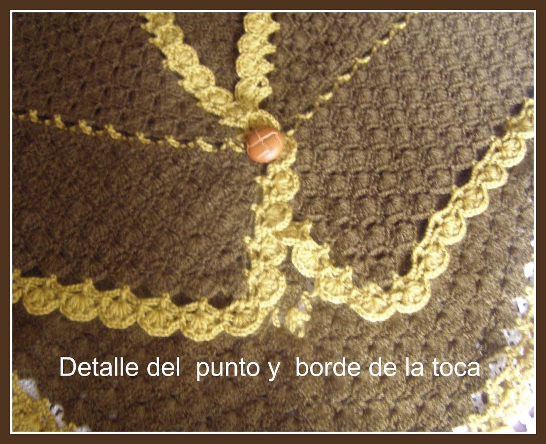 A punto de red toca a crochet para la abuela catalina - Toca de ganchillo ...
